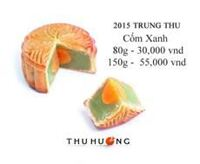 Bánh trung thu Thu Hương bánh nướng cốm xanh
