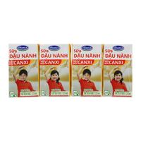 Sữa đậu nành gấp đôi canxi Vinamilk lốc 4 hộp x 125ml