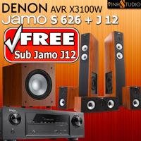 Dàn âm thanh Denon AVR X3100W + Jamo S626 + Jamo J12