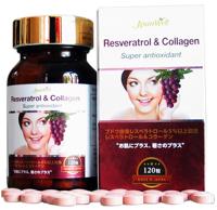 Viên uống chống lão hóa Jpanwell Resveratrol & Collagen hộp 120 viên