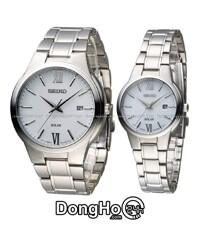 Đồng hồ đôi Seiko Solar Quartz SNE385P1+SUT227P1