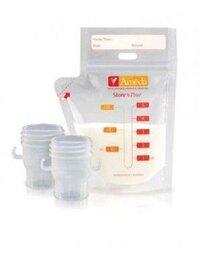 Túi trữ sữa 150ml và ống nối máy hút sữa Ameda