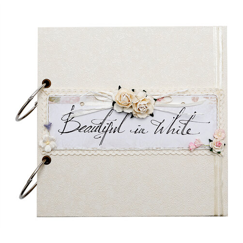 Album cưới handmade Scrapbook Beautiful In White
