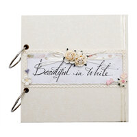 Album cưới handmade Scrapbook Beautiful In White
