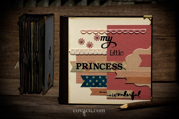 Album handmade Scrapbook cao cấp My little princess