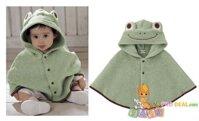 Áo choàng ếch xanh dành cho bé