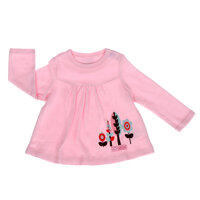 Áo chữ A tay dài màu hồng cho bé gái 6M