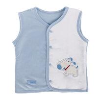 Áo gile lót bông cho bé 24m NH (màu xanh)