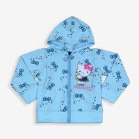 áo khoác bé gái thêu mèo kitty