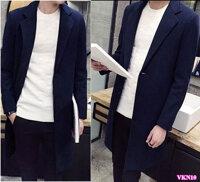 Áo khoác dạ nam form dài cao cấp VKN10