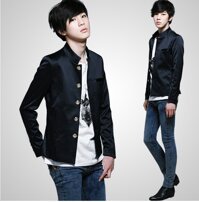 Áo khoác giả vest màu đen-AKN210