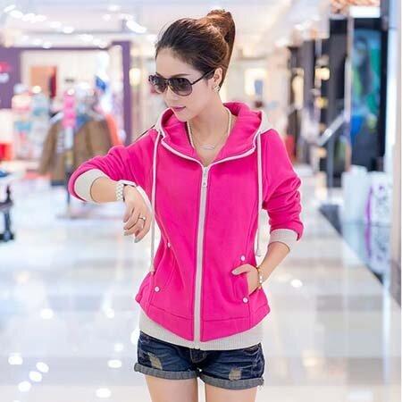 Áo Khoác Nữ Hàn Quốc Pink Color