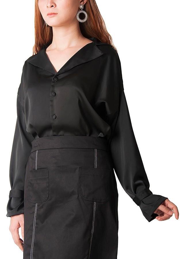 Áo kiểu sơ mi cổ vest Carita BW008