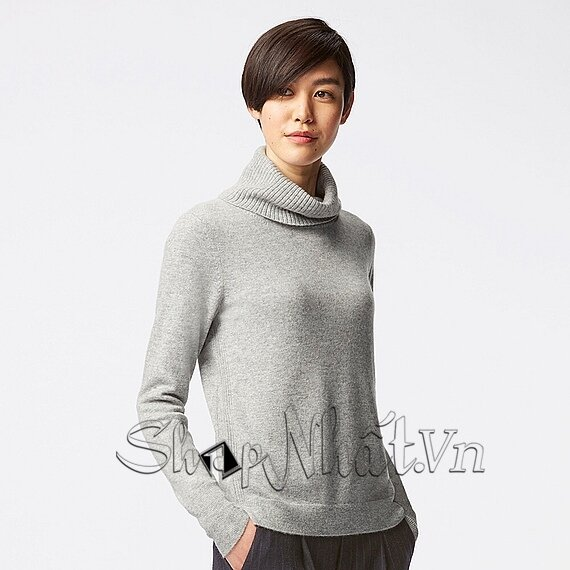 Áo len nữ Cashmere cổ lọ