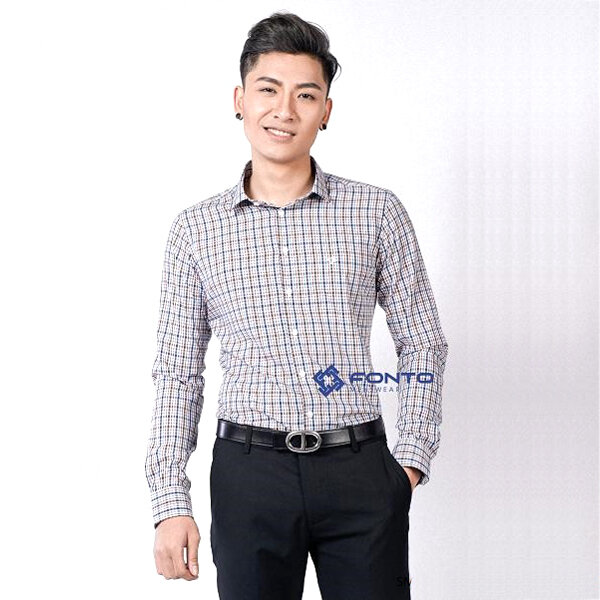 Áo sơ mi công sở nam Fonto Menswear SM010