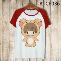 Áo thun Cô bé gấu nâu ATCP036
