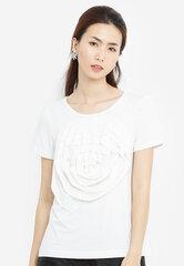 Áo thun kiểu YMY phối hoa hồng - màu trắng, xanh, đen