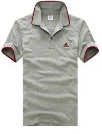 Áo thun nam logo Adidas cổ bẻ