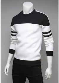 Áo thun nam tay dài cao cấp màu trắng-AT52