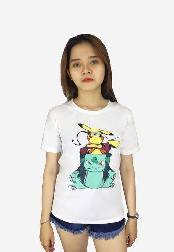Áo thun nữ Pokemon dễ thương Evest 43