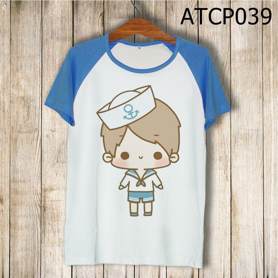 Áo thun tay màu Cậu bé thuỷ thủ ATCP039