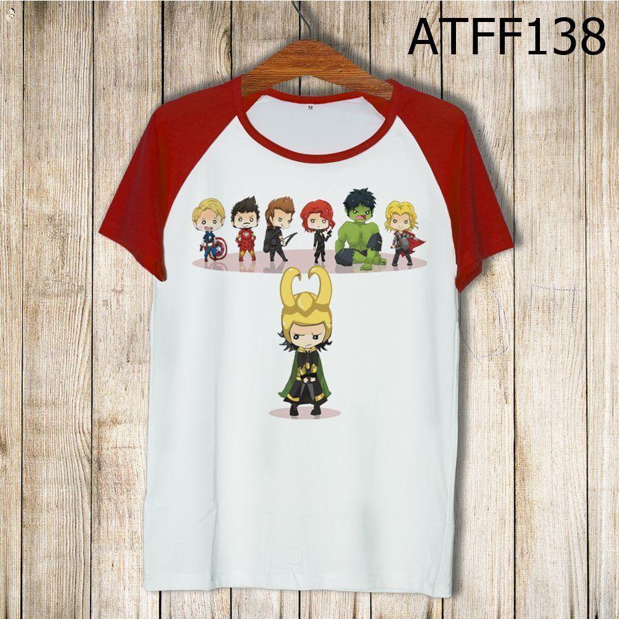 Áo thun tay màu Chibi Avengers ATFF138