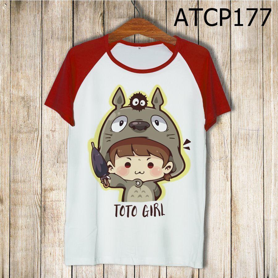 Áo thun tay màu Cô bé Totoro ATCP177