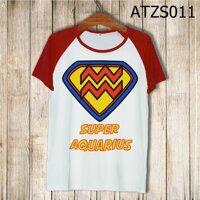 Áo thun tay màu Cung bảo bình Superman ATZS011