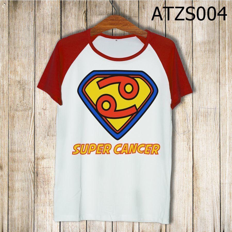 Áo thun tay màu Cung cự giải Superman ATZS005
