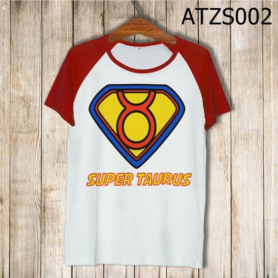 Áo thun tay màu Cung kim ngưu Superman ATZS002