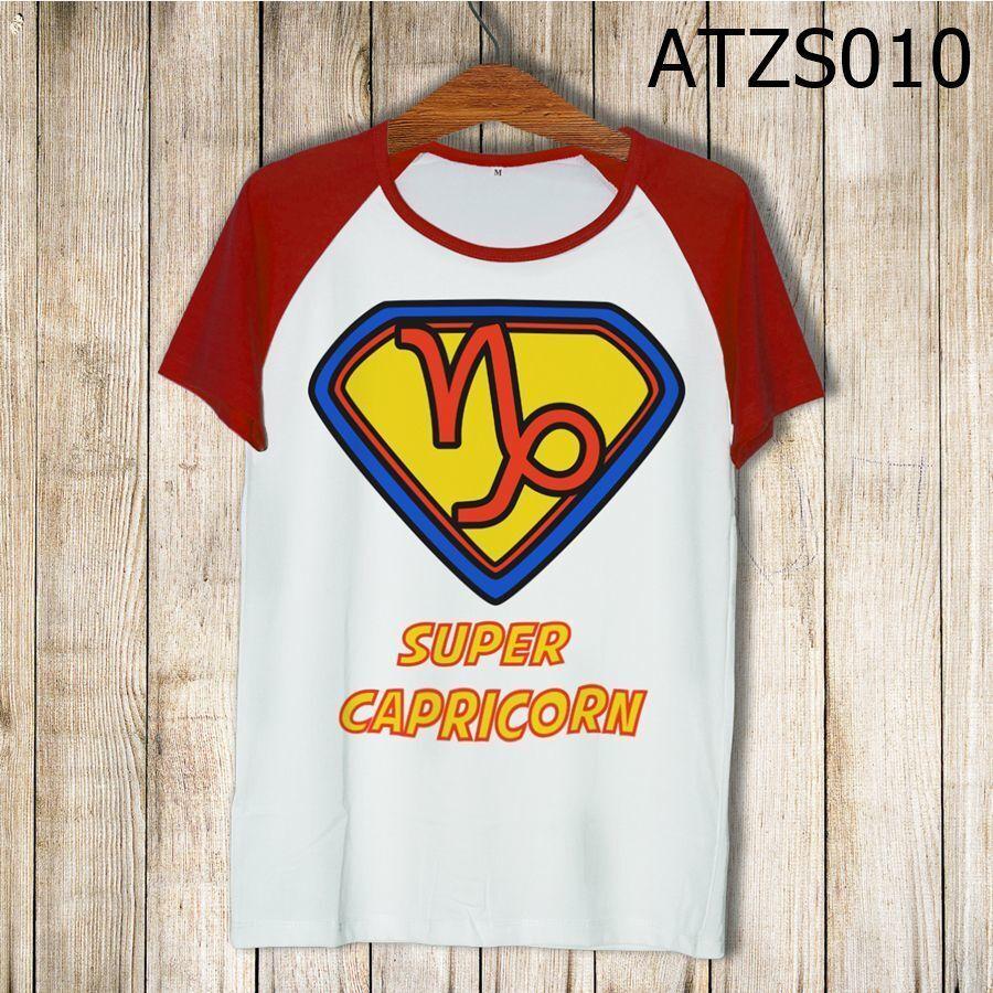 Áo thun tay màu Cung ma kết Superman ATZS010