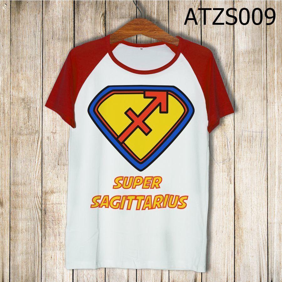 Áo thun tay màu Cung nhân mã Superman ATZS009