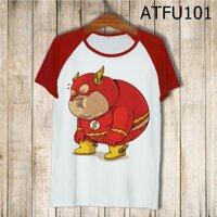 Áo thun tay màu Flashman béo phì ATFU101