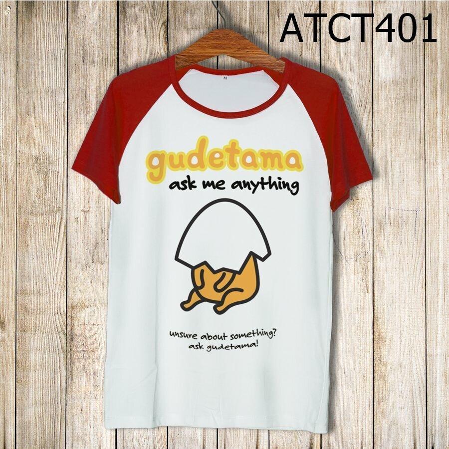 Áo thun tay màu Gudetama ask me anything ATCT401
