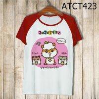 Áo thun tay màu Hamster cắn hạt ATCT423