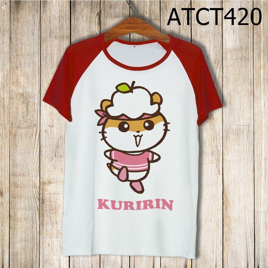 Áo thun tay màu Hamster Kuririn ATCT420