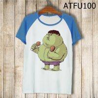 Áo thun tay màu Hulk béo phì ATFU100
