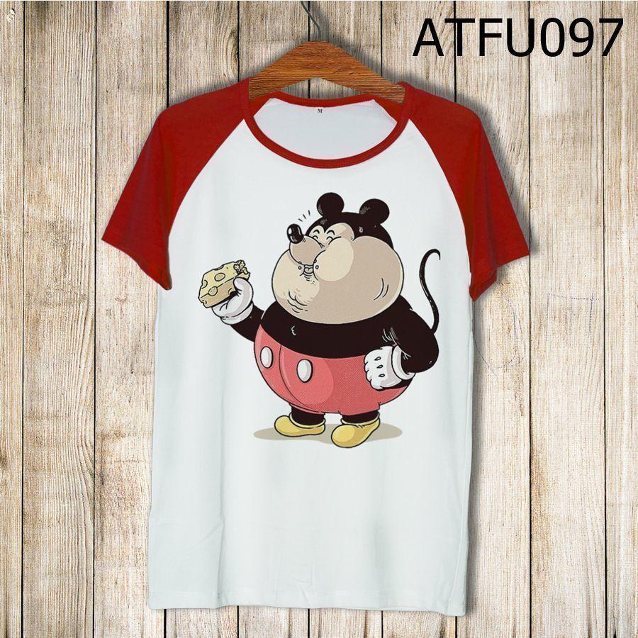 Áo thun tay màu Mickey béo phì ATFU097