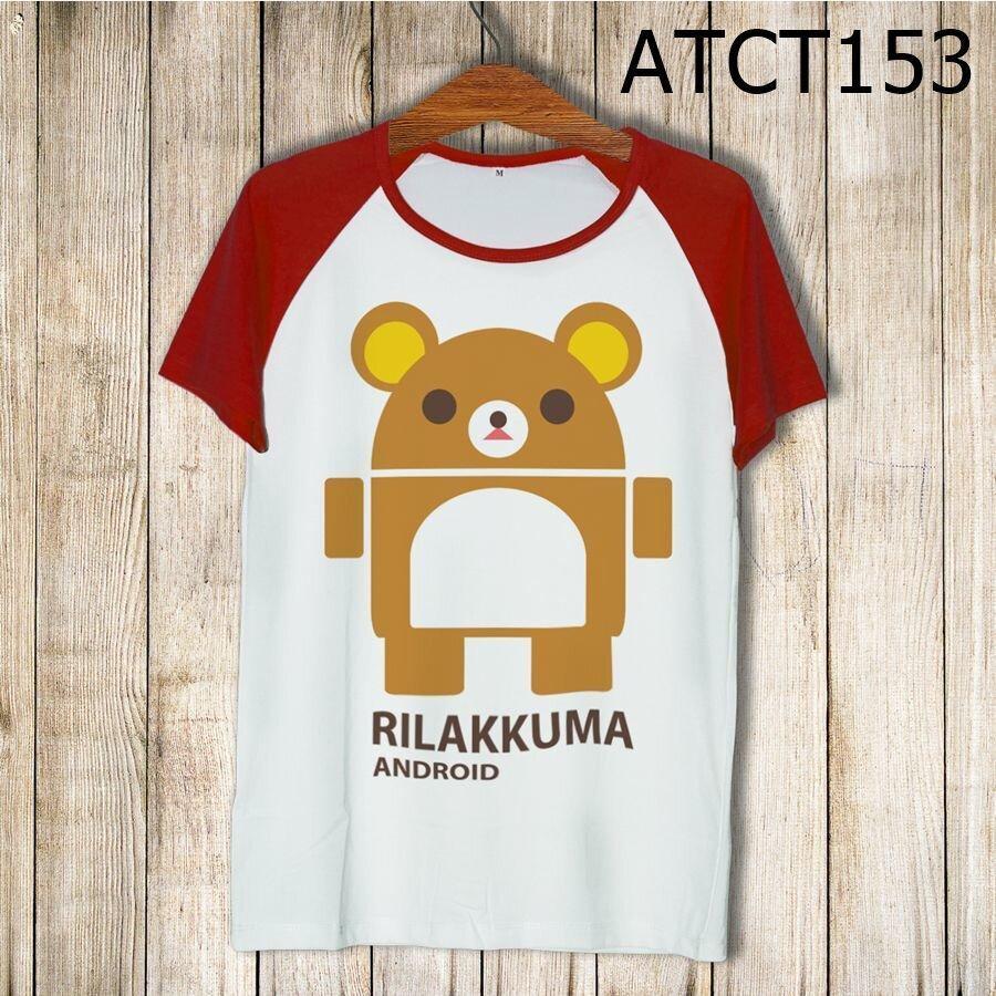 Áo thun tay màu Rilakkuma Android ATCT153