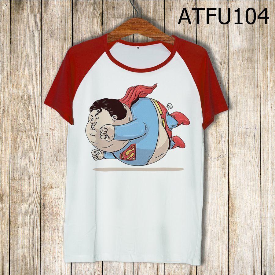 Áo thun tay màu Superman béo phì ATFU104