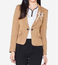 Áo vest tay dài đính nơ ngực The One Fashion ADH043ND
