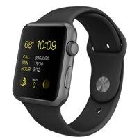 Apple Watch Sport 42mm Grey Aluminum Case Black Sport Band
