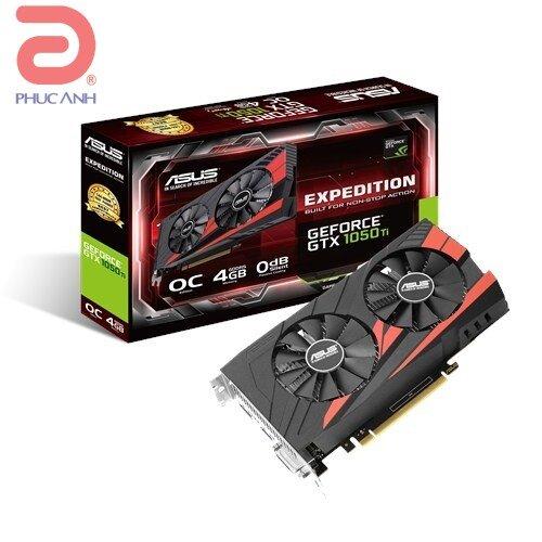 Asus EX-GTX1050TI-O4G (NVIDIA Geforce/ 4Gb/ DDR5/ 128 Bits)