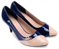 Giày nữ Huy Hoàng màu xanh đậm phối kem - HH7024