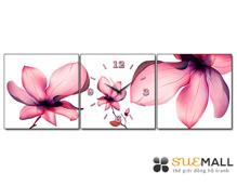 Tranh đồng hồ Suemall hoa sen dịu dàng
