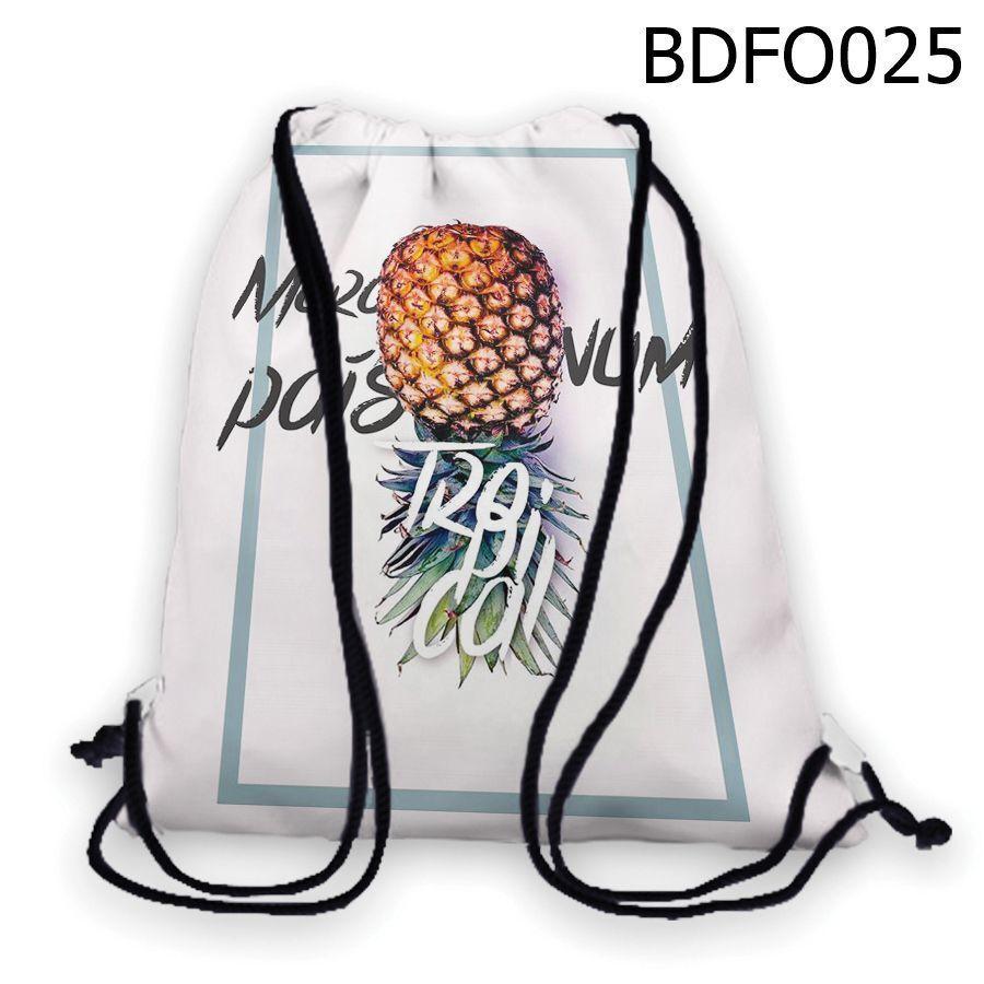 Ba lo rút in hình Trái thơm úp ngược BDFO025