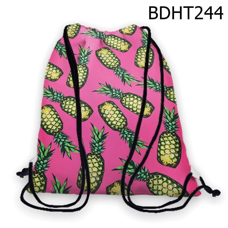 Balo rút in hình trái thơm BDHT244