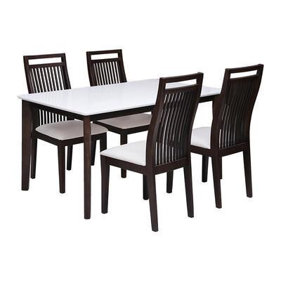 Bàn ăn 4 ghế xuất Nhật màu nâu BG-137