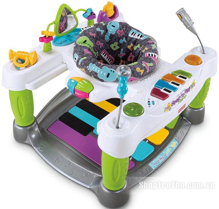 Bàn chơi nhạc piano tập đứng đa năng Fisher Price V4357 Little Superstar Step N Play