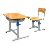 Bàn ghế học sinh khung sắt, mặt gỗ tự nhiên BHS20-4